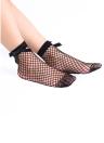 Sexy Women Harajuku Bow Knot Fishnet Socks Breathable Mesh Hollow Out Net Ankle Socks Sokken