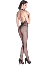 Sexy Fishnet Halter évider col en V profond Backless extensible Bodysuit