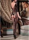Frauen-Wäsche-Körper-Strumpf-Fischnetz-geöffnete Gabelungs-reine Spitze-erotische Bodysuit-Nachtwäsche