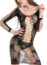 Women Lingerie Baby Doll Dress Lace  Fishnet Erotic Underwear Nightwear Sleepwear