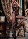 Lingerie Body Stocking Maglia Grid Ritaglio Scava fuori la tuta erotica