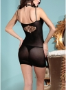 Femmes Lingerie Sommeil Robe Sheer Mesh Backless Slim Sleepwear