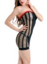 Women Chemise Dress Ruffles Bandage Strapless Mini Babydoll Nightwear Roupa de dormir