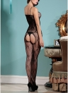 Mulheres Fishnet Jumpsuit Body Stocking Sheer Bodysuit Spaghetti Backless Slim Lingerie Roupa de dormir