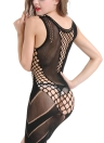 Women Lingerie Fishnet Underwear Babydoll Mini Dress Body Stockings Sleepwear Nightwear Black