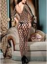 Женщины Fishnet Bodystocking Underwear Mesh Open Crotch Эротическое белье Intimate Sleepwear