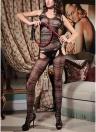 Женщин с вышивкой из сетчатого белья с бельем