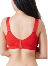 Sujetador push up de encaje push up de talla 3/4 talla grande acolchado