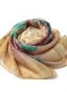 Il nuovo modo donne sciarpa della stampa floreale di due livelli perline lungo e sottile elegante Pashmina Beach coprire camicetta