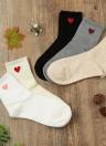 Neue Frauen, Mädchen Socken Solide Heart-Shaped Druck Breath Stretchy beiläufige Sport Lange Socken