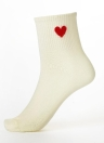 Solid Heart-Shaped Print Stretchy Long Sports Socks