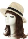 Fashion Summer Ribbon Trim Wide Brim Women's Panama Hat