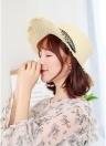 Mode Femmes Chapeau De Paille Été Printemps Chapeaux De Voyage À Large Bord Pliable Perle Plage Respirant Chapeaux De Soleil