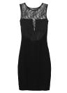 Nuova moda donne Sexy Ladies abito pizzo floreale inserto sottile vestito Bodycon Party Clubwear Abito da sera nero