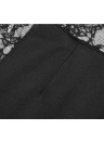 Nouveau mode femmes Sexy femmes robe dentelle florale Insert mince robe Bodycon Party Clubwear robe de soirée noir