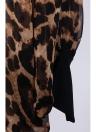 Moda mujer camisa de Gasa Leopard impresión tapas larga alas de murciélago manga blusa de las señoras largo suelta