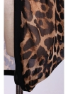 Moda donne signore camicia in Chiffon leopardo stampa Tops Batwing Long Sleeve camicetta lunga sciolto