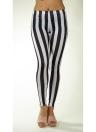 Fashion Black White Vertical Stripe Zebra Stretchy Leggings