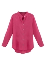 Women Blouse V Neck Long Sleeve Casual Tops