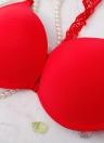 Сексуальная передняя застежка кружева Racer Назад Гладкая поверхность Push Up Женский бюстгальтер