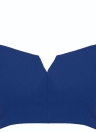 Sexy Frauen Crop Top Sprung V Schnitt Volltonfarbe Zip zurück Riemchen nicht aufgefüllten Bralet Partei BH schwarz/blau/weiß