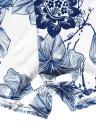Combinaison femme sexy dentelles au Crochet sangle réglable imprimé Floral fermeture à glissière arrière court Combi barboteuse blanc