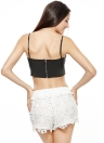 Women Deep V Neck Zip Back Camisole Tank Top Bralet