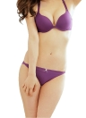 Sexy Front Closure Lace Racer Back Push Up with Briefs Underwear Bra Sets