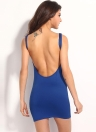 Sexy V Neck Backless Sleeveless Club Bandage Mini Dress