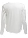 Sexy mujer cuello en V profundo superior Cruz blanco Casual camiseta manga larga delantera torcida de cultivos
