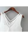 Women Vest Chiffon V Neck Sleeveless Blouse Tops