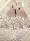 Nueva moda mujer falda escarpada Floral de la pestaña del cordón elástico de la cintura alta Midi falda blanco/negro