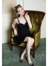 Nouveau mode femmes robe Sweetheart décolleté bretelles doucement rembourrage Slim Fit Sexy une pièce noir/rouge