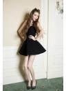 Trendy Sweetheart Neck Spaghetti Straps Softly Padding Slim Skater Dress