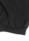Moda mujeres pantalones casuales superposición de Gasa elástico en la cintura elástico del pun ¢ o Capri Bloomers pantalón negro