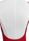 Sexy Twist tiefes V-Ausschnitt rückenfreies asymmetrisches Kleid