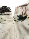 Las mujeres de moda corto mono correa ajustable impresión Floral abrigo cremallera frontal trasera mameluco Enterizo verde