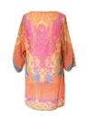 Mulheres vintage vestem V estampa Floral barroco pescoço Shift boêmio vestido solto Casual praia vestido azul/rosa