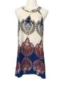 Women Summer Dress Printed Halter Style Sleeveless Mini Dress