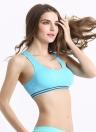 Fashion femmes sport Gym soutien-gorge Push Up sans fil sous-vêtements sans couture extensible en cours d'exécution débardeur