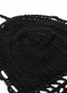 Femmes sexy au Crochet Crop Top Spaghetti Strap Halter caraco gilet Bikini Bralette noir/blanc