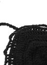 Sexy mujer ganchillo cultivo superior espaguetis correa vestido camisola chaleco Bikini Bralette negro