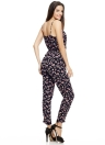 Sexy Floral Print V Neck Wrap Front Spaghetti Straps Jumpsuits