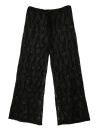 Nouvelle plage femmes Sexy pantalon creux Drawstring taille jambe large Boho Casual pantalon Loose noir/blanc