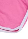 Moda mulheres Sports Shorts contraste vinculação lado Split cintura elástica Yoga Shorts