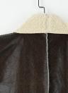 Suede Faux Fur Lapel Fleece Long Waistcoat