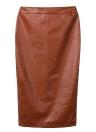 L'Europe femmes Sexy Jupe PU cuir couleur unie Midi crayon jupes OL décontracté Slim Clubwear café