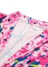 Nueva mujer traje dos piezas estampado Floral dentada Collar manga larga chaqueta pantalones cortos pantalones Casual Twin Set rosa