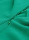 Europas Frauen Overall Minikleid gerades Bein Reissverschluss zurück Runde Hals Langarm Shorts Playsuit Nachtclub Spielanzug grün