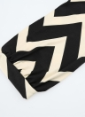 Nouveau mode femmes robe Zig Zag vague Stripe manches longues impression régulière ajustement occasionnel monobloc kaki